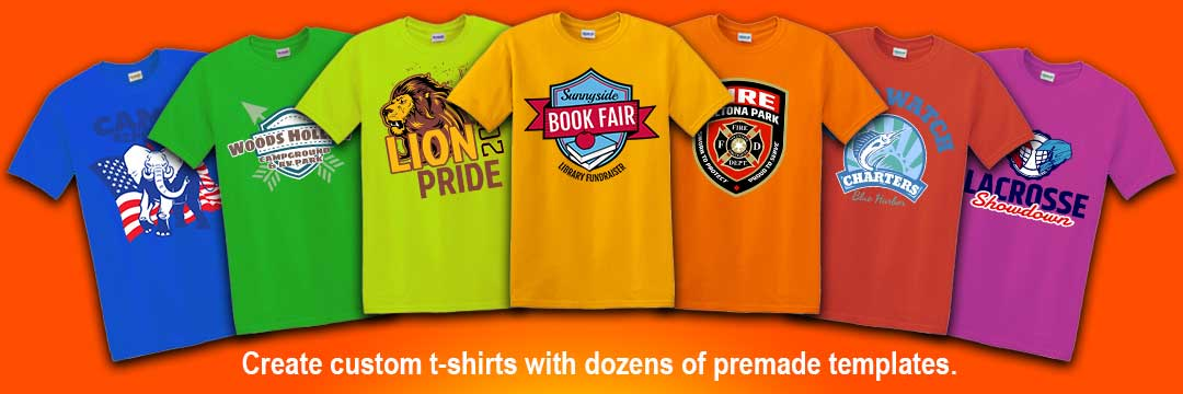 Create custom shirts with dozens of premade templates - Shirts Next Day